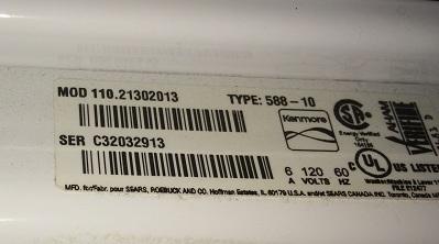 Kenmore Top Loading Washer Repair Model Number 110 21302013